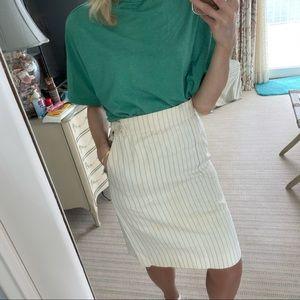 CHLOÉ Vintage White high waist pin stripe skirt 4